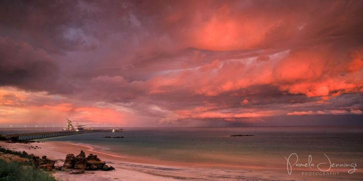 Wet season sunrise over Roebuck Bay, Broome.jpg